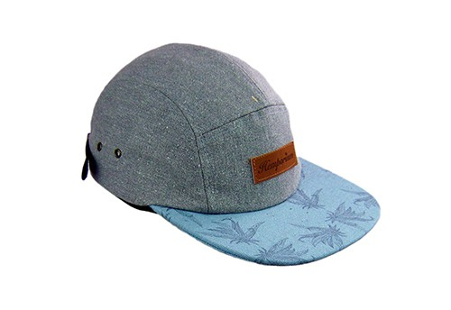 Hemp 5 Panel Contrast Peak cap
